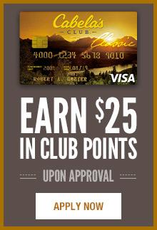 Sign-up for a Cabela's CLUB Visa
